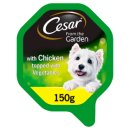 Cesar Garden Selection Dog Tray with Chicken and Veg 150g
