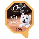 Cesar Country Kitchen Dog Tray with Beef and Turkey in Gravy 150g