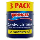 Princes Sandwich Tuna 3x160g