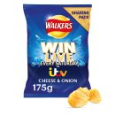 Walkers Cheese & Onion Crisps Sharing Pack 175g