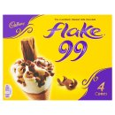 Cadbury Flake Ice Cream Cones 4×125