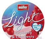 Muller Light Fat Free Raspberry & Cranberry Yogurt