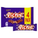Cadbury Picnic Chocolate Bar (4 Pack)