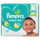 Pampers Baby Dry Size 5+ Nappies (35 Pack)
