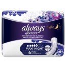 Always Discreet Incontinence Pads+ Maxi Night For Sensitive Bladder 6pk
